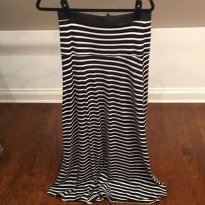 Worn 1x, BCBG Max Azria striped maxi skirt